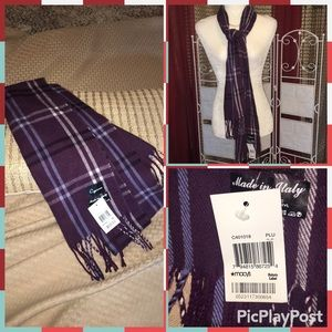 Macy's NWT  Made in Italy Purple scarf 🧣 by Cejon